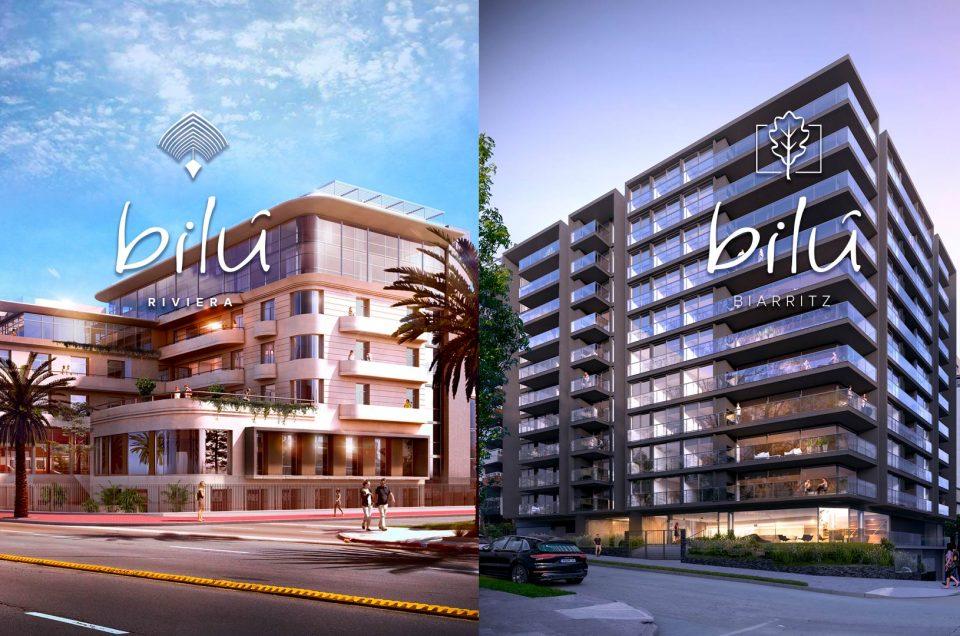 El diseño y la sofisticación llegan a dos majestuosos puntos de Montevideo de la mano de Bilú Biarritz y Bilú Riviera.